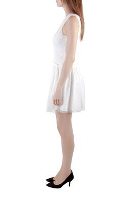 Theyskens Theory White Lace Sleeveless Dinal Dress M
