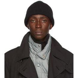 Lemaire Black Wool Rib Hat 192646M13800301GB