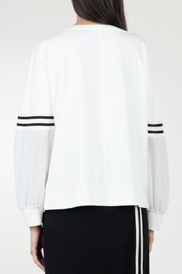 Белый свитшот с присборенными рукавами Blugirl 1916144169