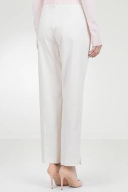 Бежевые брюки с разрезами Blumarine 533144239