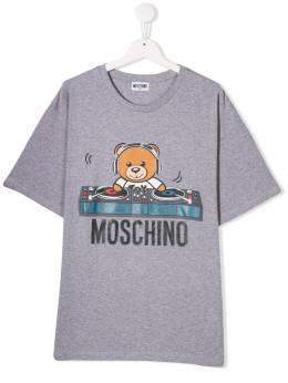 Moschino Kids футболка с принтом HRM029LBA12