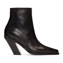 Ann Demeulemeester Black Slash Heel Boots 192378F11302303GB