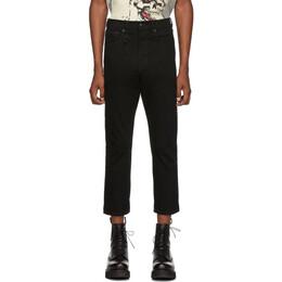 R13 Black Ankle Drop Jeans 192021M18600405GB