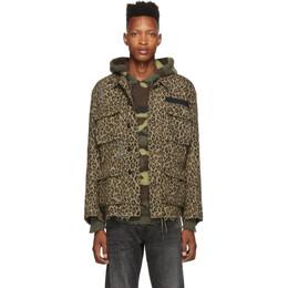 R13 Beige Leopard Jacket 192021M18000502GB