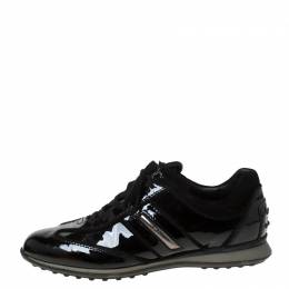 Tod's Black Patent Leather Lace Up Sneakers Size 38.5 Tod's