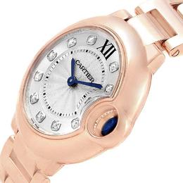 Cartier Silver 18K Rose Gold Ballon Bleu WJBB0016 Women's Wristwatch 28MM 212694
