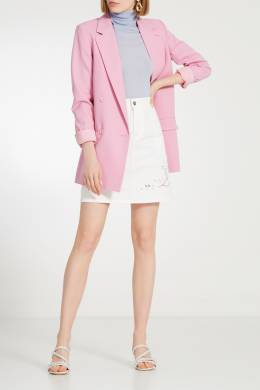 Белые кожаные босоножки Kate Pearl Ash 6112459
