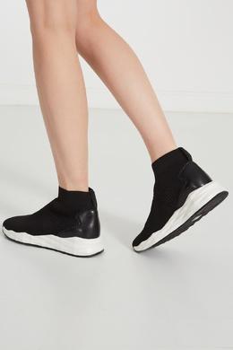 Черно-белые кроссовки-носки Sound Ash 6115853