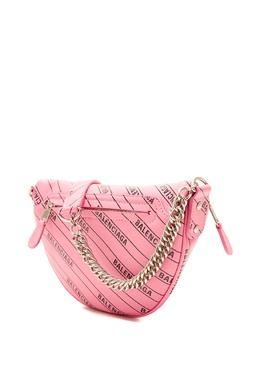 Розовая с черным поясная сумка XXS Souvenir Balenciaga 397142633