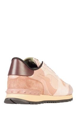 Бежевые кроссовки с отделкой Valentino 210132173