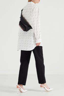 Черная с красным поясная сумка Signature Everyday Balenciaga 397142637
