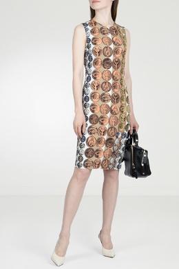 Платье-футляр с принтом Roberto Cavalli 314143283