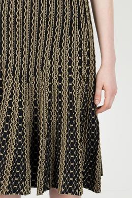 Черное платье с золотистым узором Roberto Cavalli 314143249