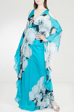 Шелковое платье с разрезами Roberto Cavalli 314143251