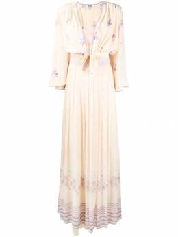 A.N.G.E.L.O. Vintage Cult - платье с накидкой с цветочным принтом 38693396636000000000