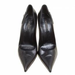 Sergio Rossi Black Leather Pointed Toe Pumps Size 40 156725