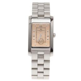 Baume&Mercier Champagne Stainless Steel Hampton MV045063 Men's Wristwatch 24 mm 108329
