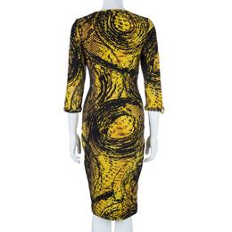 Just Cavalli Honeycomb Print Bodycon Dress L 41202