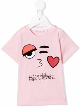 Fendi Kids - футболка с принтом 6693AJ93653989000000