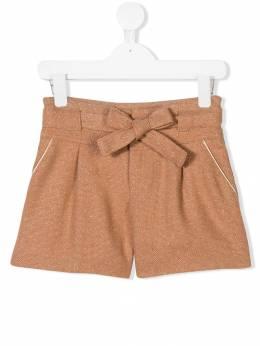 Chloe Kids шорты с бантом на поясе и блестками C14553