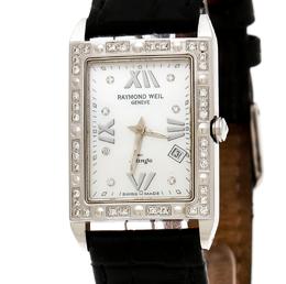 Raymond Weil Mother of Pearl Stainless Steel Diamonds Tango 5981 Women's Wristwatch 23 mm 172500