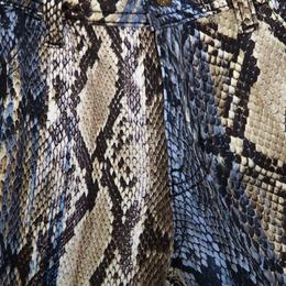 Just Cavalli Multicolor Python Print Stretch Denim Skinny Jeans M 160609
