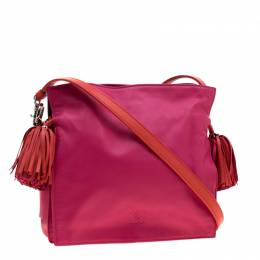Loewe Pink/Coral Leather Small Flamenco Shoulder Bag 201643