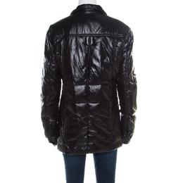 Yves Saint Laurent Paris Black Zip Front Windcheater Jacket M 177091