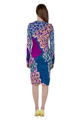 Peter Pilotto Multicolor Marine Print Jersey Long Sleeve Bodycon Dress S 203587