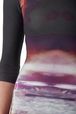 Alexander McQueen Black Engineered Lightning Print Stretch Knit Bodycon Dress XS 203942