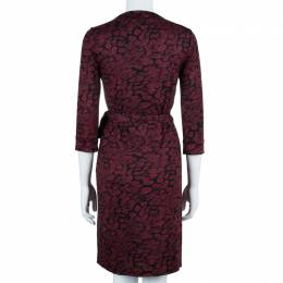 Diane Von Furstenberg Red New Julian Two Wrap Dress M 42537