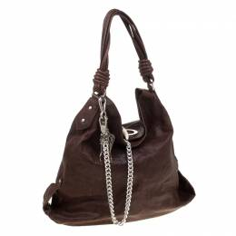 Gianfranco Ferre Brown Leather Hobo 178777
