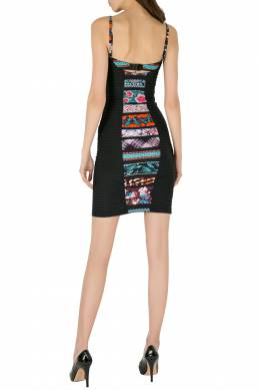 Jean Paul Gaultier Soleil Multicolor Printed Bustier Bodycon Dress XS 206116