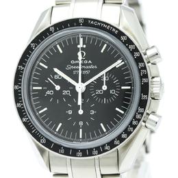 Omega Black Stainless Steel Speedmaster Men's Wristwatch 42MM 149433