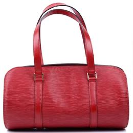 Louis Vuitton Red Epi Leather Soufflot Bag w/ Accessory Pouch 119829