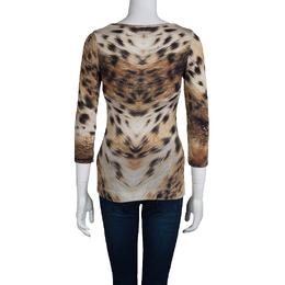 Just Cavalli Animal Print Jersey T-Shirt XS 72927