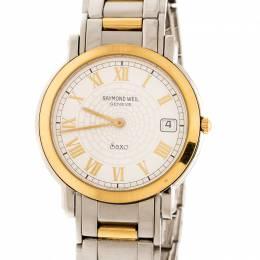 Raymond Weil White Two-Tone Stainless Steel Saxo 9521 Men's Wristwatch 36 mm 208788
