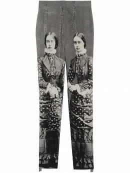 Burberry - эластичные брюки с принтом 69569333035300000000