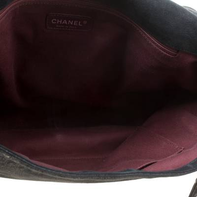 Chanel Black Quilted iridescent Leather XL Gentle Boy Flap Bag 177061 - 6