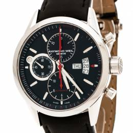 Raymond Weil Black Stainless Steel Freelancer 7730 Chronograph Men's Wristwatch 42 mm 178784