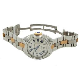 Cartier Silver Rose Gold & Steel Cle De Cartier Automatic Women's Watch 31MM 211870
