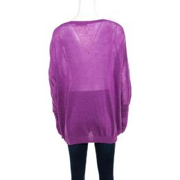 Loro Piana Purple Linen and Silk Sweater M 172320