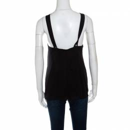 Diane Von Furstenberg Black Silk Sleeveless Lilita Top S 150634