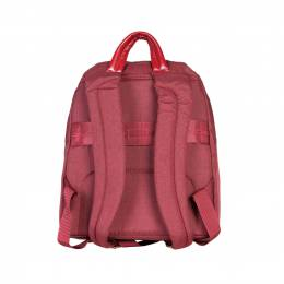 Piquadro Red Nylon and Leather Backpack 169824