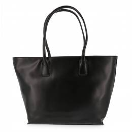 Versace Jeans Black Faux Leather Shopping Tote 161974