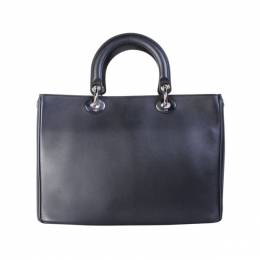 Dior Black Leather Large Diorissimo Tote 191557