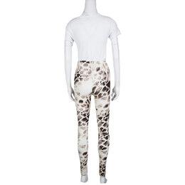 Just Cavalli Animal Print Stretch Jersey Leggings M 139056