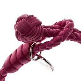 Bottega Veneta Pink Intrecciato Nappa Leather Double Strand Bracelet M 161801