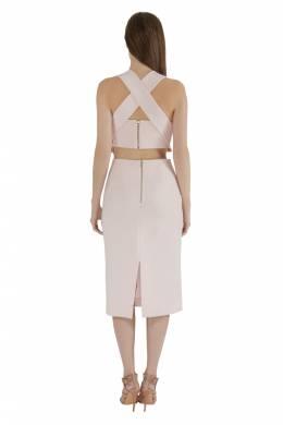 Nicholas Blush Pink Cut Out Detail Bandage Wrap Bodycon Dress M Nicholas Kirkwood 212514