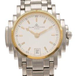 Baume&Mercier White Stainless Steel Diamond Riviera Women's Wristwatch 26MM 149343